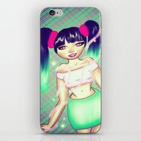 magical girl iPhone & iPod Skins featuring Magical Girl by gottalovedrawing