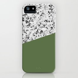 Granite and Kale Color iPhone Case