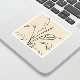 Line drawing leaves Sticker