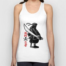 Debate Over: Pirates vs. Ninjas Unisex Tank Top