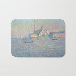 """Claude Monet """"The Church of San Giorgio Maggiore, Venice"""" Bath Mat"""