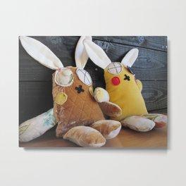 Two Bunnies Metal Print