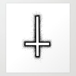 Inverted Cross Art Print