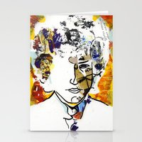bob dylan Stationery Cards featuring bob dylan by Chris Shockley - shock schism
