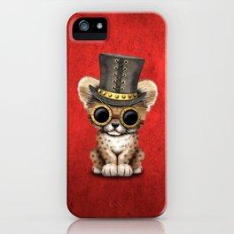 Steampunk Baby Cheetah Cub iPhone Case