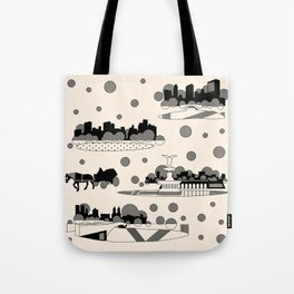 central park snow Tote Bag