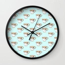 Teacup Pattern Wall Clock