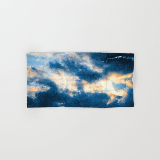 Celestial Grunge Clouds Hand & Bath Towel
