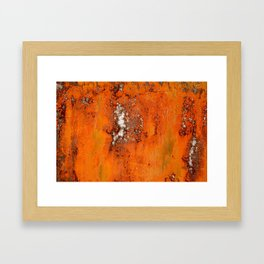 Abstract Red Rust Framed Art Print