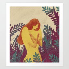 Young and fragile Art Print