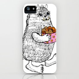 Little Monster bringing cookies iPhone Case