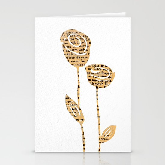 PAPERCUT FLOWER 5 Stationery Cards
