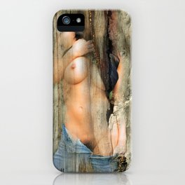 Nude on nervous board iPhone Case