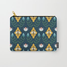 Summer Bees Blue Carry-All Pouch