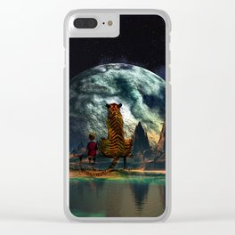 Calvin and Hobbes-Nebula Clear iPhone Case