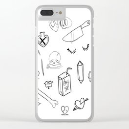 creepy cute witchy pattern Clear iPhone Case