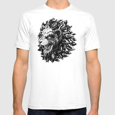 Lion LARGE Mens Fitted Tee White