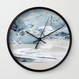 Icelandic lagoon in pastel blue Wall Clock