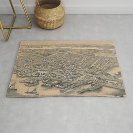 Vintage Pictorial Map of Seattle WA (1889) Rug