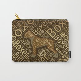 Boxer dog Word Art Carry-All Pouch