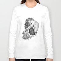 mermaid Long Sleeve T-shirts featuring Mermaid by April Alayne