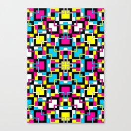 Techno Plaid - Candy Canvas Print
