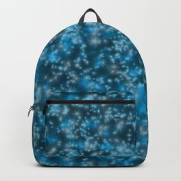 Turquoise Blue Field of Stars Backpack