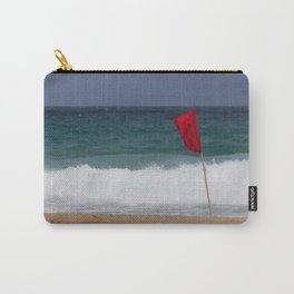 Red flag No Swimming Carry-All Pouch