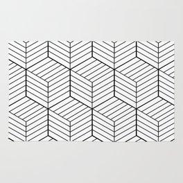 ZADA ((black on white)) Rug