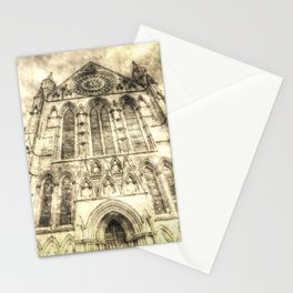 York Minster Cathedral Vintage Stationery Cards