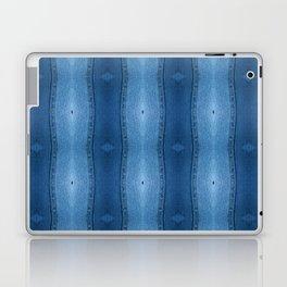 Denim Diamond Waves vertical patten Laptop & iPad Skin