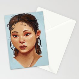 Red Eyes Portrait Stationery Cards