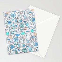 Sea pattern no1 Stationery Cards