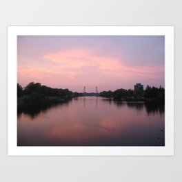 Welland at Sunset Art Print