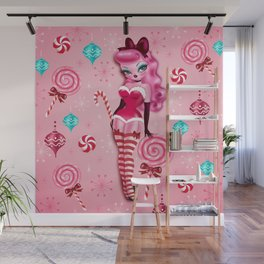 Christmas Sugar Doll Wall Mural