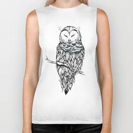 Poetic Snow Owl Biker Tank