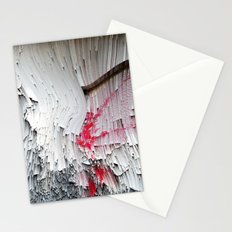 Red flowers on a wall Stationery Cards
