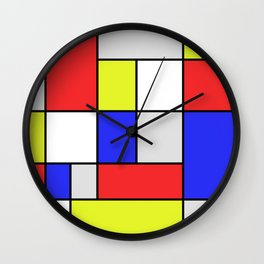 Mondrian #25 Wall Clock