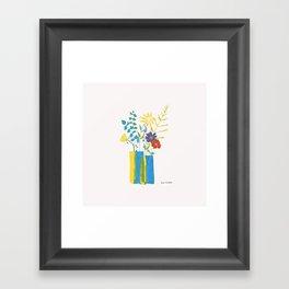 Spring floral bouquet Framed Art Print