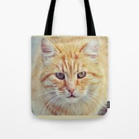 ginger Tote Bags featuring Ginger by LindaMarieAnson