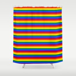 Mini Gay Pride Rainbow Flag Stripes Shower Curtain