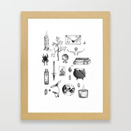 Witchy Habits Framed Art Print
