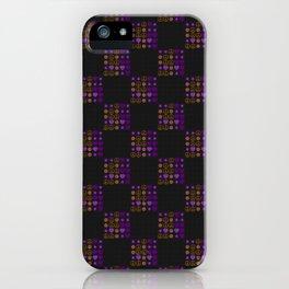 Halloween Patchwork Weave iPhone Case