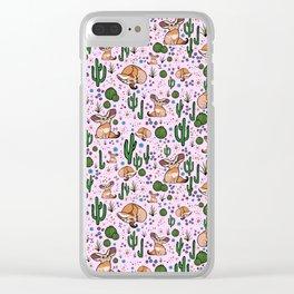 Cute Fennec Fox Pattern Clear iPhone Case