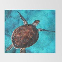 Exploring Underwater Life Throw Blanket