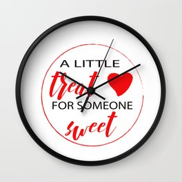 A Little Treat for Someone Sweet Wall Clock