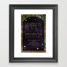 Forest and enchantment Framed Art Print