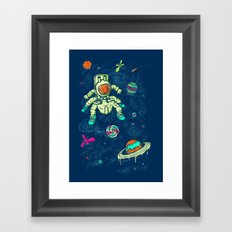 Antronaut And The Sugar Galaxy Framed Art Print