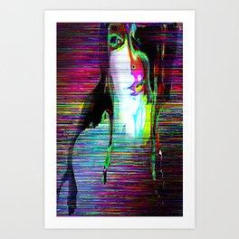 The Empty Nymph Calypso Glitch Art Print