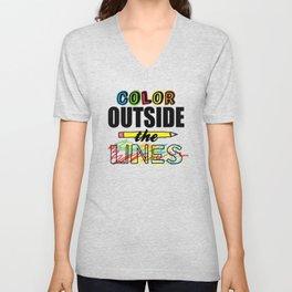 Color Outside The Lines Unisex V-Neck